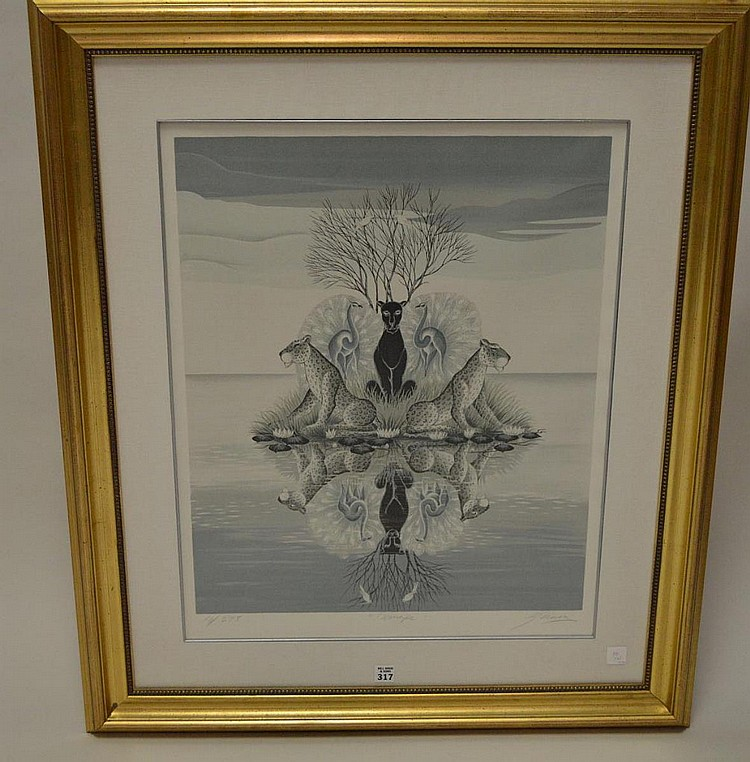 Gustavo Novoa (Chile born 1941) Lithograph , MIRAGE, sight sizes 26 x 21 inches, pencil signed and numbered 18/275