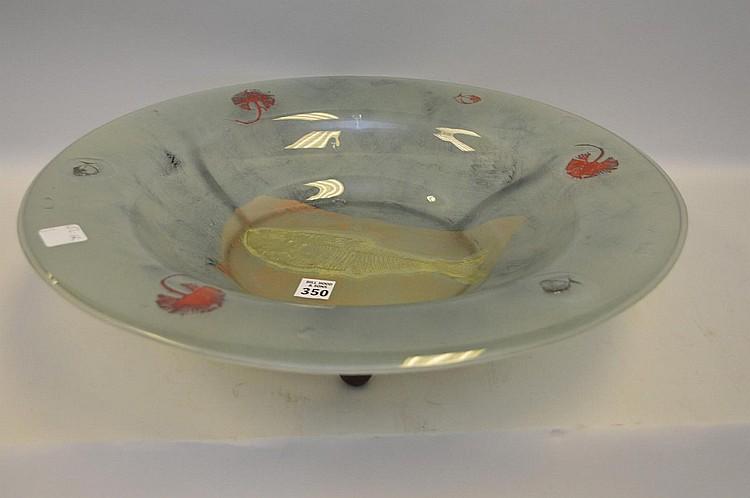 Art glass centerpiece bowl, 5