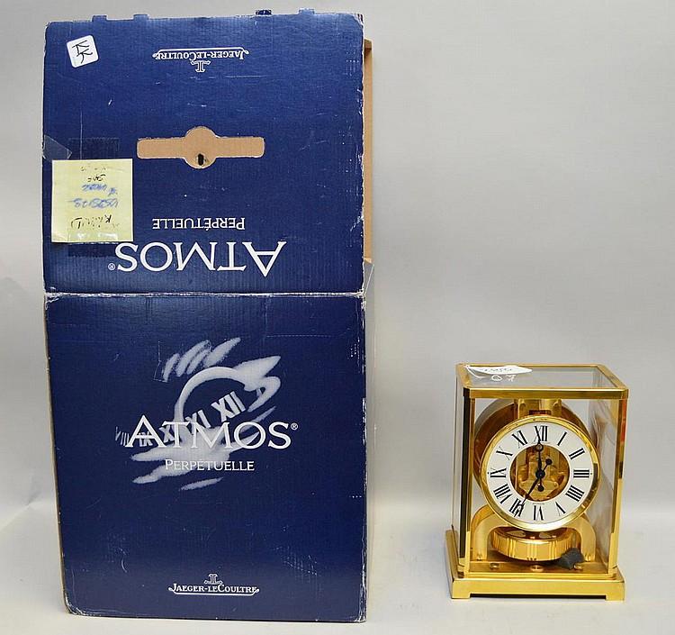 Jaeger Le Coultre Atmos clock, original box, 8 3/4