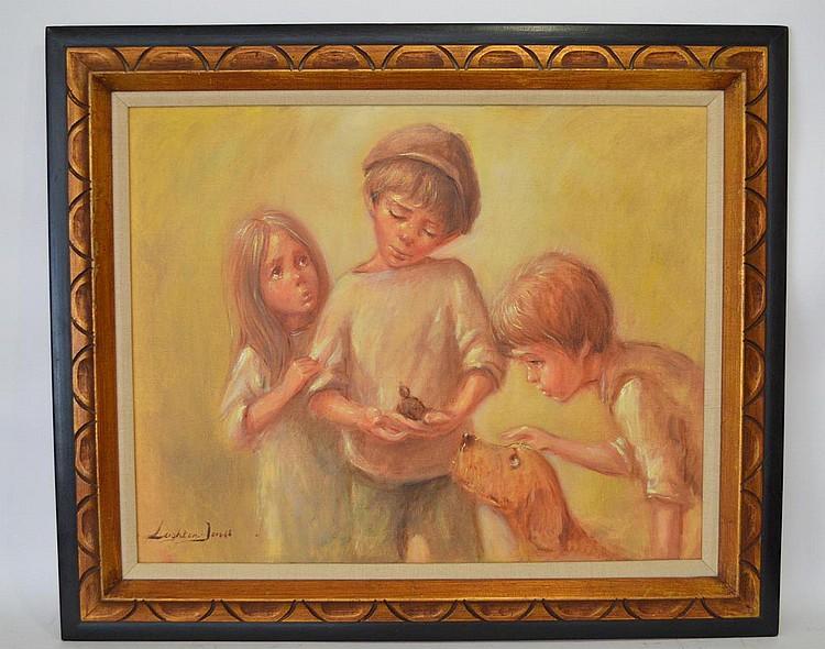 Barry Leighton Jones (British 1932 - 2011) oil on canvas, THE RESCUE, canvas 24 x 30