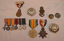 Lot of assorted vintage/antique medals