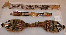 Lot of 3 antique beaded bracelets