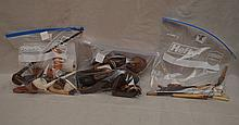 Antique and vintage lot of assorted pipes, pipe cases and cigarette holders, bone, wood and clay materials