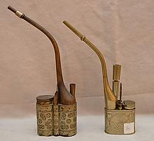 2 antique water pipes
