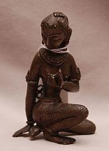 Small Nepal Female Folk Bronze 3-1/2 in. tall x 2 in. wide