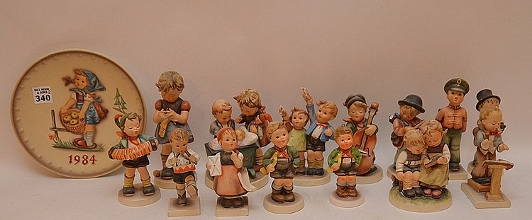 (14) assorted Hummel's and (1) 1984 Hummel plate
