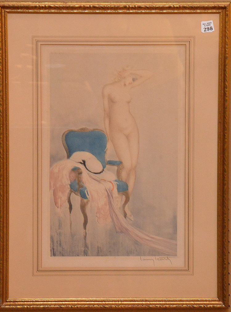 Louis Icart (FRENCH, 1888-1950) Etching -Standing Nude, hand signed by the artist, 21in. X 21-1/2 sight