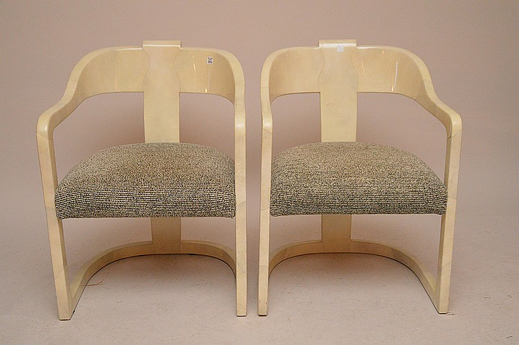 Pair unsigned Springer arm chairs, 32