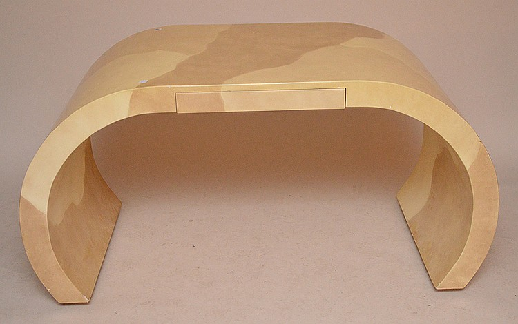 Modern lacquered foyer table, possibly unsigned Springer, 31