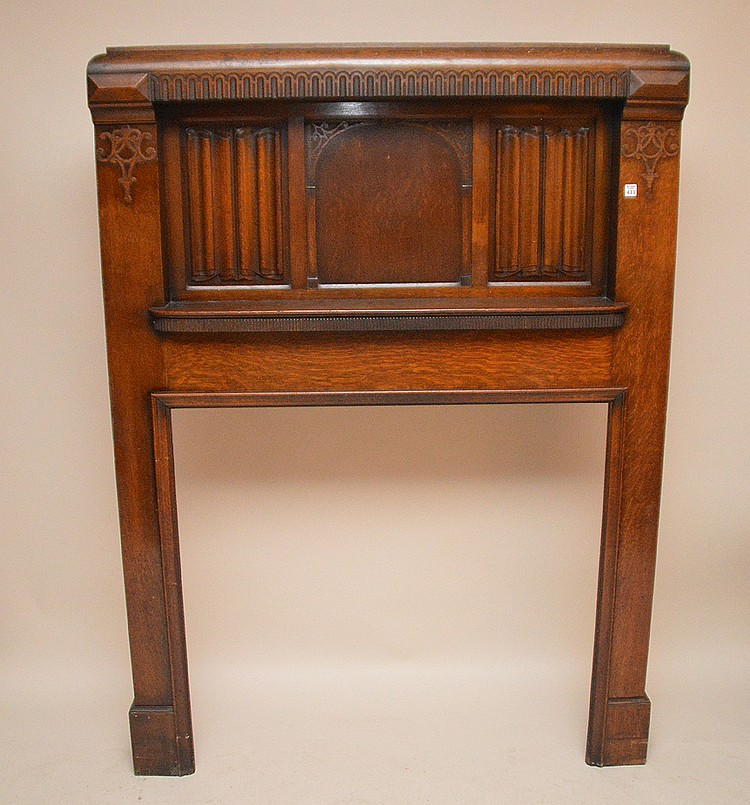 Antique oak fireplace mantle, 72
