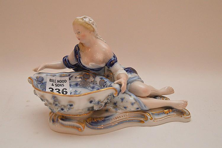 Meissen porcelain sweet meat dish, 4 1/2
