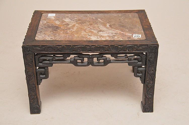 Oriental square stool, 10 1/2
