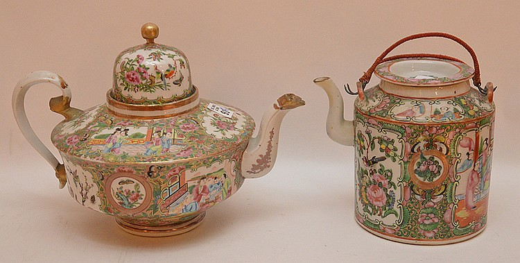 2 Rose Medallion teapots, 6