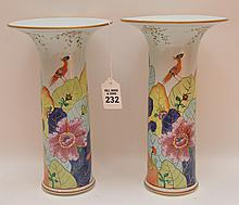 Pair Mottahedeh porcelain