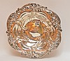 Meridian Sterling Bowl with floral and scroll decorated rim.  Ht. 3