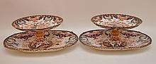 4 Pieces Royal Crown Derby porcelain, 2 compotes (4 3/4