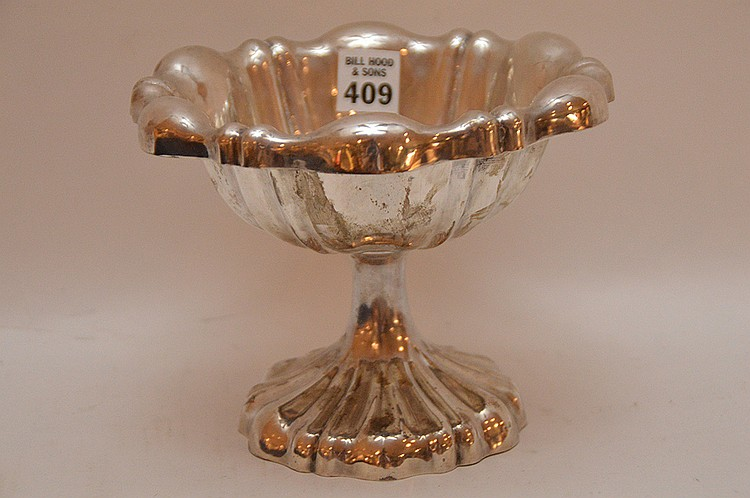 Continental Silver Compote.  Ht. 5 3/4