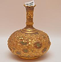 Royal Crown Derby gold vase, 5 1/2