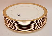 Set 12 Royal Worcester Porcelain Plates.  Dia. 10 3/4