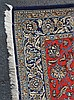 Handmade Persian Rug, 9' x 5' blues & reds