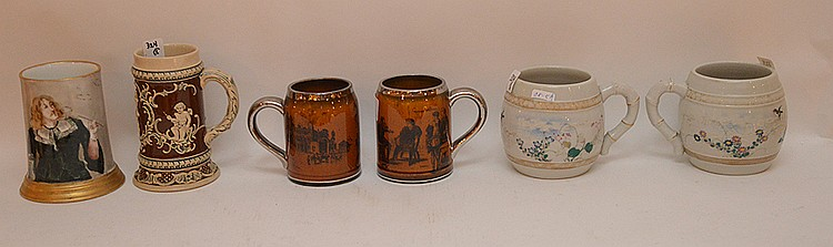 Collection of 6 assorted Steins