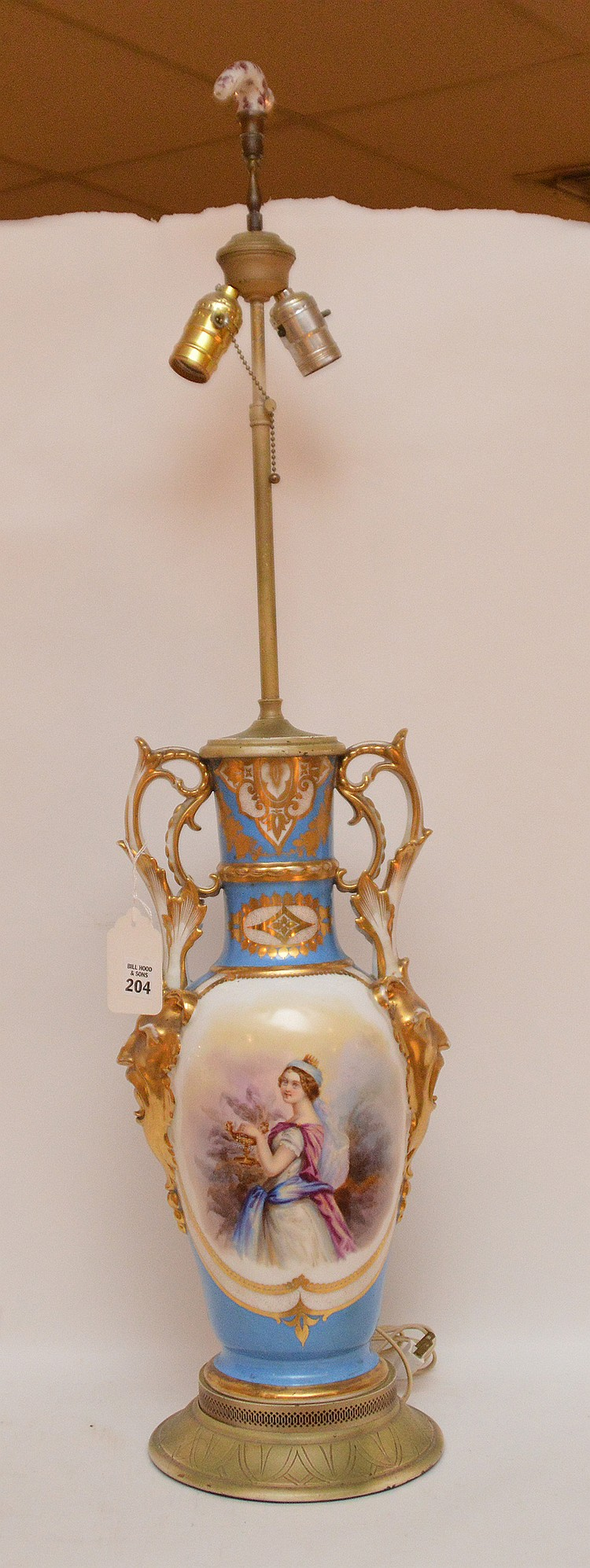 French porcelain lamp, 36