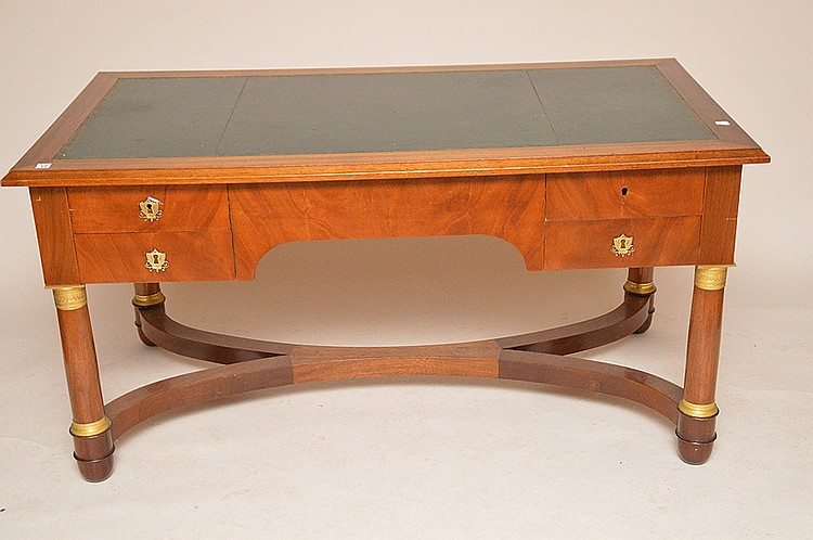 Neo-Classical lightwood mahogany desk, 29
