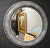 Shagreen stye round frame mirror attributed to Carl Springer, 44