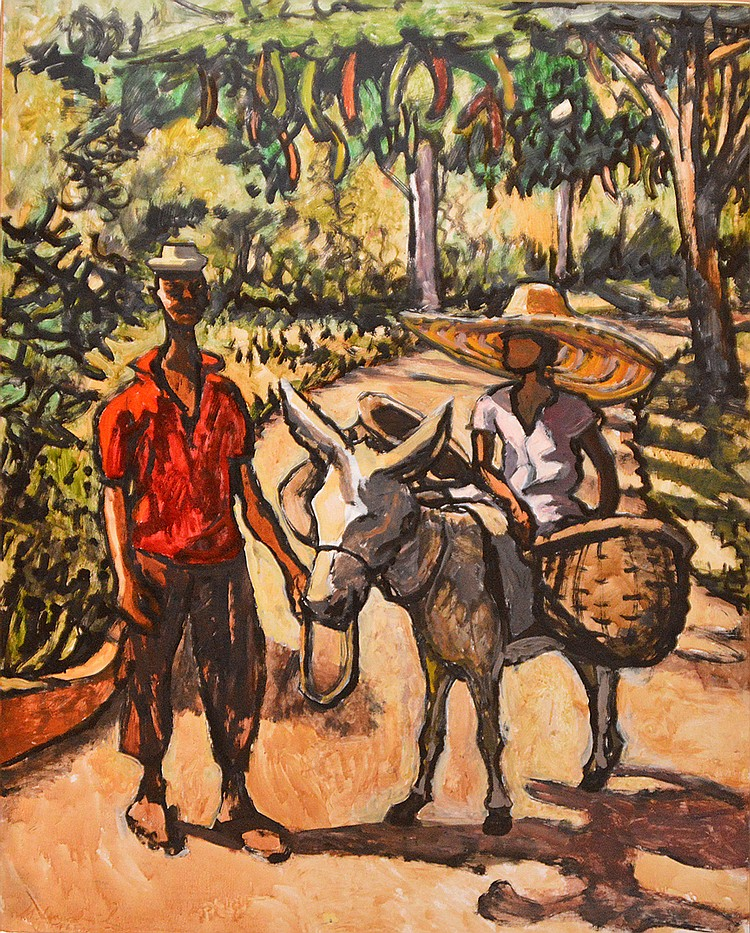 Michal Antoni Leszczynski (1906-1972), aka Michael Lester, Polish/Jamaican, oil on board, Jamaican Scene