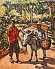 Michal Antoni Leszczynski (1906-1972), aka Michael Lester, Polish/Jamaican, oil on board, Jamaican Scene