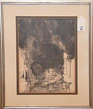 Jean Leon Jansen (French-American, b. 1920)- Litho, pencil signed lower right, 14in. X 10-1/2in. Sight