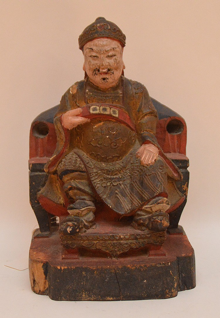 Antique Carved Buddha.  Ht. 10 1/2