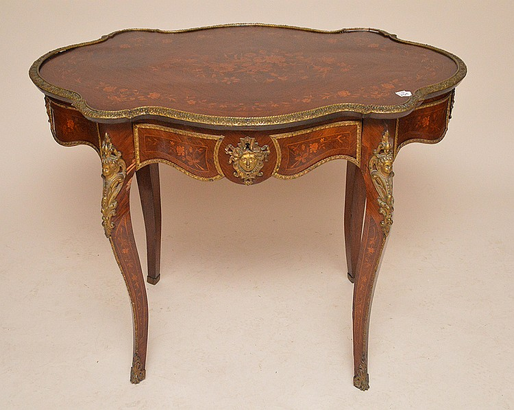 Floral Marquetry table with gilt metal mounts, 30
