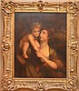 19th Century Continental School, oil on canvas, Mother with Child, 28 inches x 36 inches