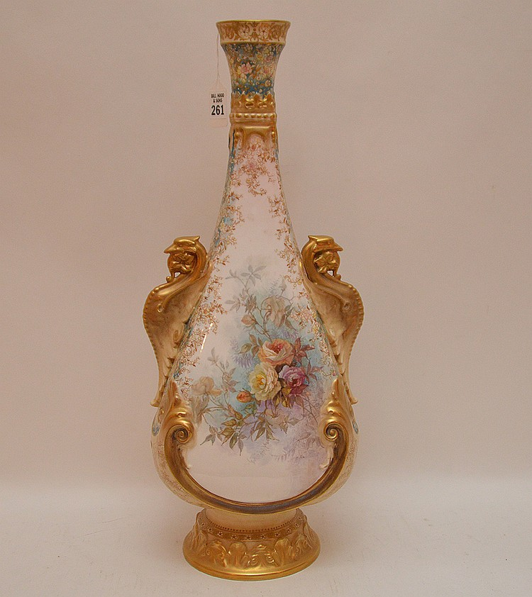 Large Doulton Burselem Porcelain Vase. Ht. 20