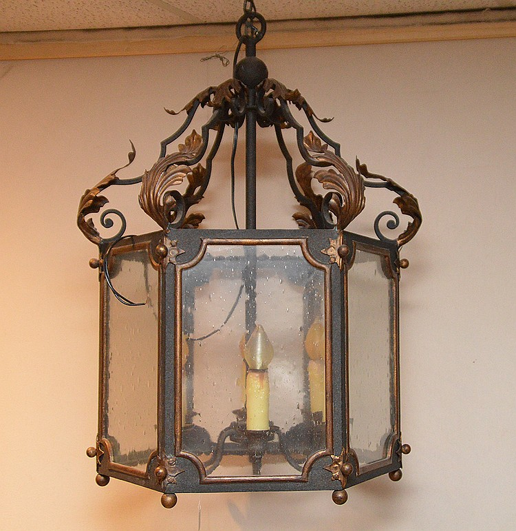 Oversize lantern, 6 sided chandelier, 34