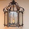 Oversize lantern, 6 sided chandelier, 34