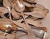 Lot 60 Coin Silver Spoons of various sizes and makers.  30oz. Troy