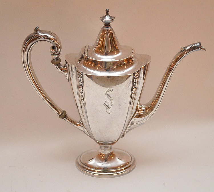 International Sterling Tea Pot.  Ht. 9 3/4