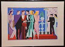 Giancarlo Impiglia, Italian/American (b. 1940- ) Night People I, Serigraph, 33in. X 44in.
