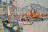 Yolande Ardissone (French, B.1927) oil on canvas, Harbor scene, canvas size is approx 11-1/2
