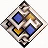 Omar Rayo (COLOMBIAN, 1928-2010) Acrylic / Canvas, Narabruz XX, created NY 1982, 34 inches x 34 inches