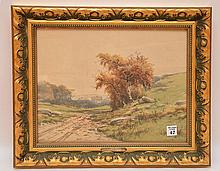 Charles Grant Davidson (AMERICAN, 1866-1945) Watercolor Landscape, 11-1/4in x 14-1/4in.
