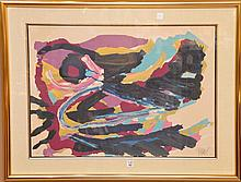 Karel Appel (DUTCH, 1921-2006) Abstract Lithograph, pencil signed and numbered 150/160, 21-1/2in. X 29in.