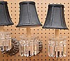 4 small fixtures w/ glass prisms