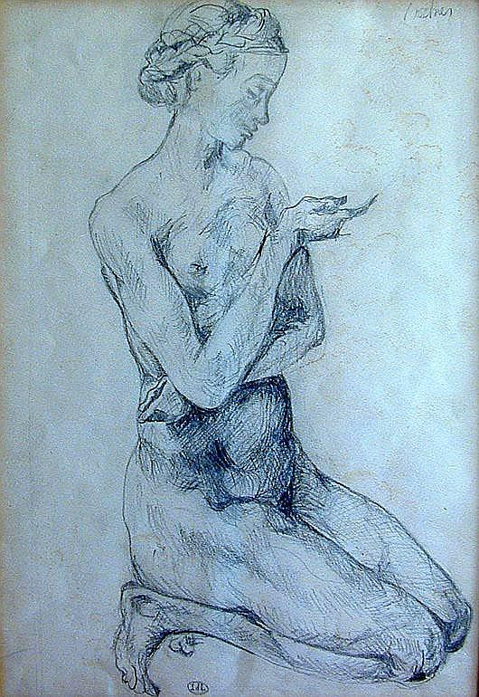 AUGUST BOCHER (German 1873-1061) Drawing