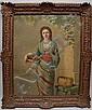 Charles de Naeyer (BELGIAN, ) oil on canvas, lady, Charles De Naeyer, Click for value