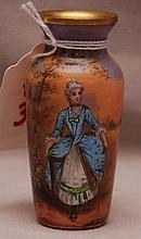 French enamel vase, 2 7/8