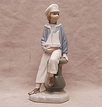 Lladro sailor boy, 9 1/4