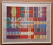 Yaacov Agam (Israeli b. 1928 - ) colored